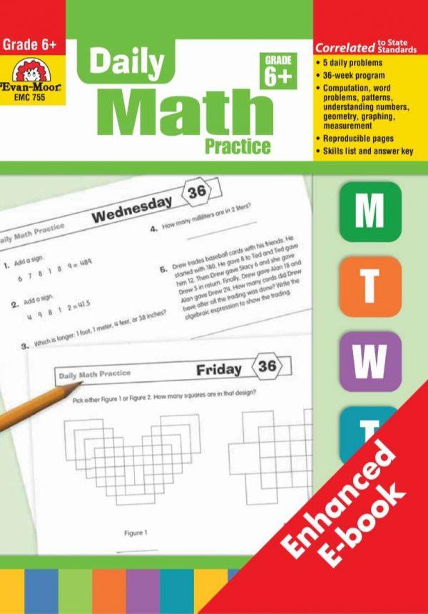 Daily Math Practice Grade 6 - Evan Moor