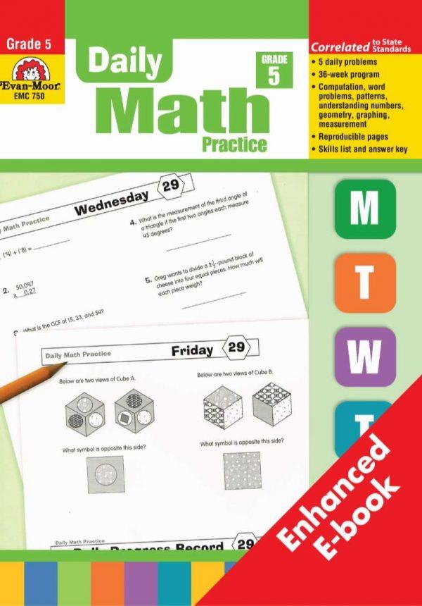 Daily Math Practice Grade 5 - Evan Moor