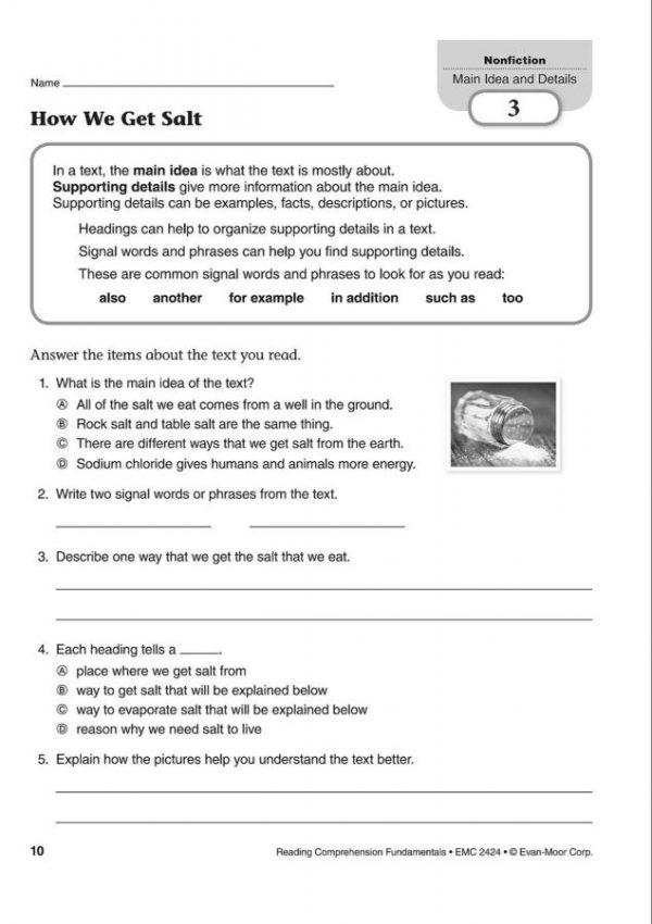 Reading Comprehension Fundamentals 4 (3)