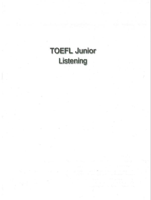 toefl junior_listening_001